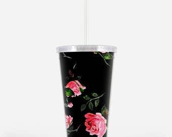 Acrylic Tumbler: Classic Garden Rose
