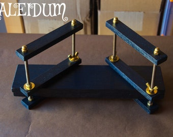 Wooden wenge style black and golden bookbinding press - Handmade
