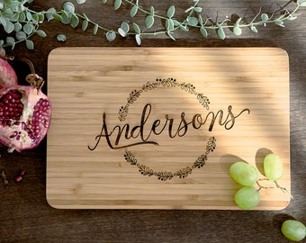 Personalized Cutting Board Wedding Gift, Monogram Custom, Engagement Gift, Anniversary Gift, ...