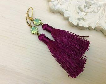 Swarovski Tassel Earrings