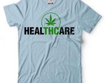 Weed T-Shirt Cannabis Marijuana THC Tee Shirt