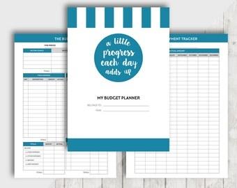 A5 Budget Planner, Printable Financial Planner Inserts, Finance Organiser, Money Planning, Monthly Saving, Expense, Debt Payment, Goal Set