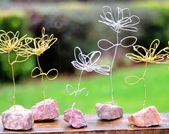 Wire Flowers_Hand-wrapped