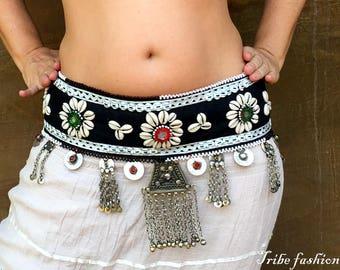 Belly dance costume, fusion belly dance belt, gypsy goddess belt