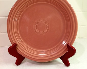 Vintage Original Fiestaware Rose Plate Fiesta Ware Dish Homer Laughlin Ohio Midcentury Pottery