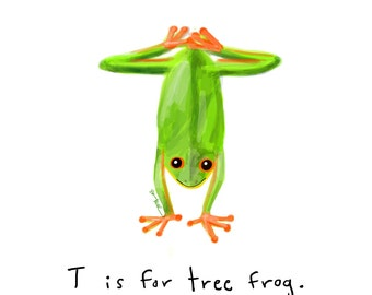 T is for Tree Frog Print