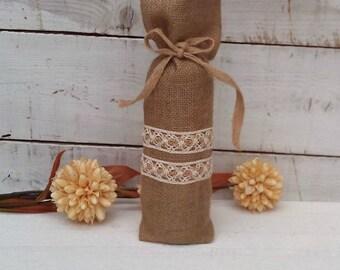 Wine Bags - Burlap Wine Bags - Wine Bottle bags - Wine Bottle Cosy - Burlap wine bag - Wedding wine bag - burlap gift bag - Set of 3