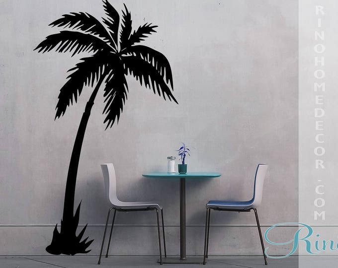 Palm Tree DECAL vinyl Wall stickers Wall art Palmtree No background large size coconut tree beach oasis south home decor livingroom bedroom