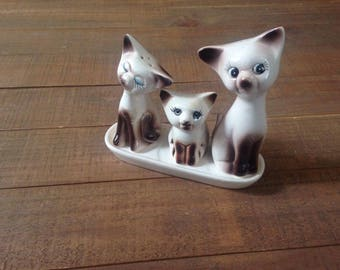 Kitty Cat Salt and Pepper Shakers, Cat Salt and Pepper Shakers, Collectible, Cat Kitchen Decor