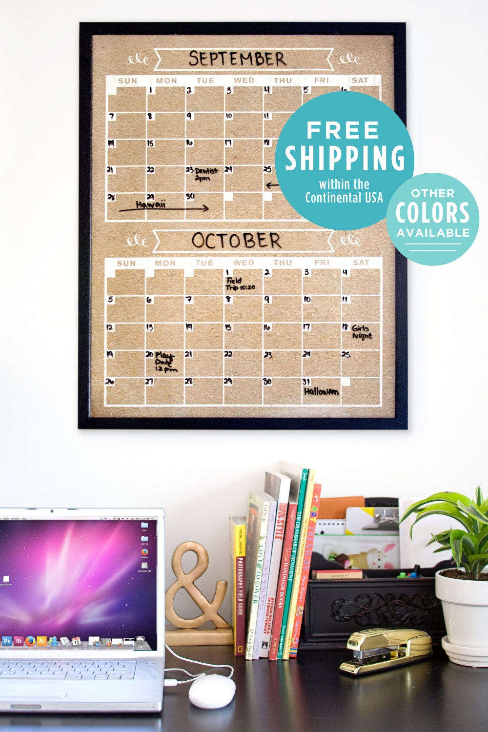 two month calendar family planner wall calendar perpetural