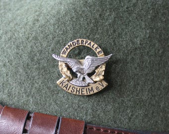 Vintage Real Austrian/ Bavarian / Alpine Tyrolean Oktoberfest Hat Pin - Peregrine falcon (Wanderfalke) Kaisheim