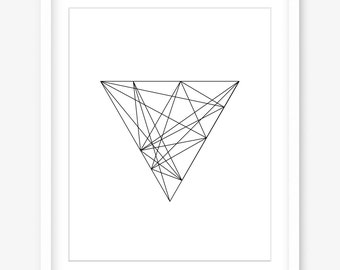 Printable geometric art - printable black and white art - line art - printable minimalist art - printable modern art - DIGITAL DOWNLOAD