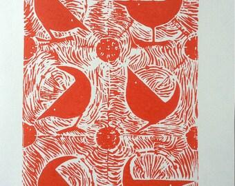 Earlybird - An Original Woodcut Print
