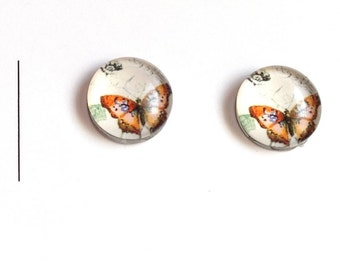 Rimless Butterfly post earring