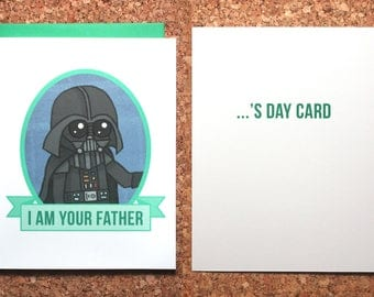 Star Wars Father's Day Card / Darth Vader I am Your Father / Darth Vader Father's Day