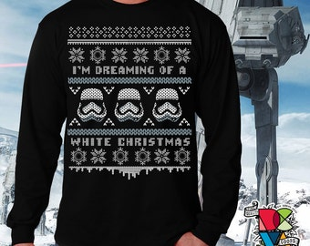 Star Wars Christmas Shirt | Ugly Christmas Sweater | White Christmas | Stormtooper Shirt | The Last Jedi Shirt | Mens Womens Unisex Shirts
