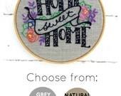 Home Sweet Home, embroidery kit, modern hand embroidery, I Heart Stitch Art, hoop art kit, DIY embroidery, DIY housewarming gift