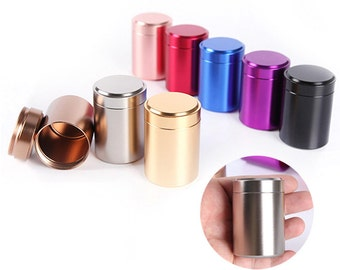 10 pcs Mini Tea Leaf Tins, Coffee beans Tins, Candy Tins - Titanium Can - Party Wedding Favors - Containers