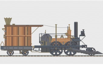 Revised John Bull Train design, a cross stitch design