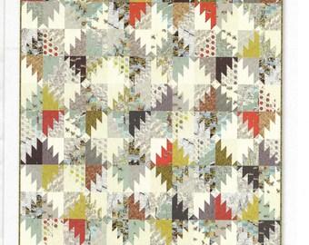"""Silverton Quilt Pattern, Miss Rosie's Quilt Co., Scrap Quilt Pattern, Sawtooth Quilt Pattern, 72""""x75"""", Easy Quilt Pattern, RQC 134"""