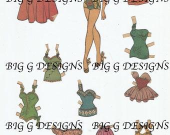 Vintage Katy Keene comic book pinup queen paper doll digital download printable instant image clip art