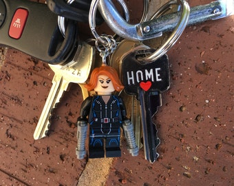 Marvel Avengers Black Widow Mini-Figure Key Chain