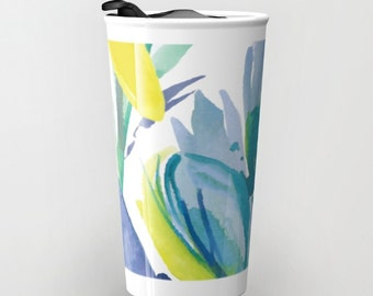 Flower Travel Mug - Ceramic Travel Mug With Lid - Gift For Women - Aldari Home