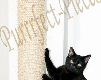 Wall mounted sisal cat scratching post UK 1 metre