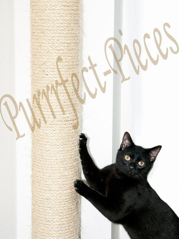 Items similar to wall mounted sisal cat scratching post uk 1 metre on etsy - Wall mounted cat scratcher ...