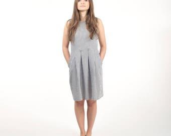 Striped dress , short dress , summer dress , cotton dress , stripes , sleeveless dress