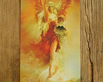 fortune angel goddess abundance wealth riches balance happiness strenght fengshui prosperity power blessing success giclee card symbol gift