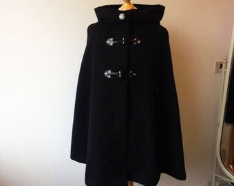 Cloak hooded cape  with hood, frogged and studs