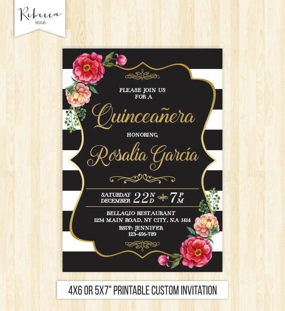 quinceanera invitation 15th birthday party invite mis quince
