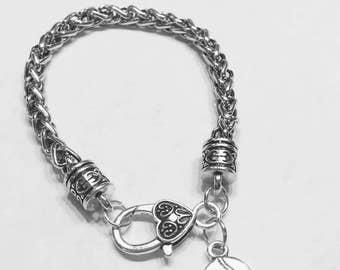Baseball Charm Bracelet, Softball Charm Bracelet, Sports Baseball Mom Charm Bracelet