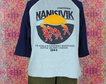 Nanisivik World's Toughest Marathon 1984 Vintage Ringer T-Shirt