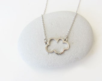 Silver cloud necklace, cloud necklace, cloud charm necklace