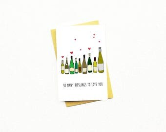 Love Card...Birthday Card...Birthday Card...25th Birthday Card...30th Birthday Card...BFF Card...Wine Lover..Anniversary Card...Rieslings