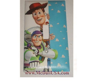 Toy Story Woody Buzz Lightyear Toggle, Rocker Light Switch & Power Duplex Outlet Plate Cover Home decor