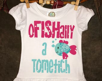 Personalized Boy or Girl oFISHally Adoption Shirt or Fabric Scrap Tutu Outfit