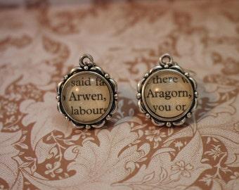 Arwen ~ Aragorn Earrings ~ The Lord Of The Rings ~ J.R.R Tolkien ~