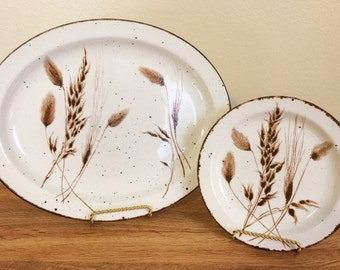 Midwinter Stonehenge Wild Oats Wedgwood Platter & Bread Butter Plate 2PCS