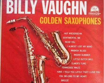 Billy Vaughn, Golden Saxophone, Vintage Record Album, Vinyl LP, Classic Instrumental Pop Music, Dot Record Label, Tennessee Waltz