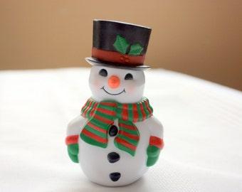 Snowman Salt and Pepper Shaker, stackable salt and pepper shakers, Christmas table decor, Christmas salt and pepper, snowman decor