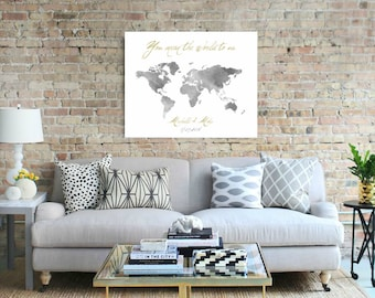 Wedding World Map Sign Guest Book Bride and Groom Gift, Wedding Anniversary Gift Foam Board Map Alternative Guest Book, Push Pin Map - 37077