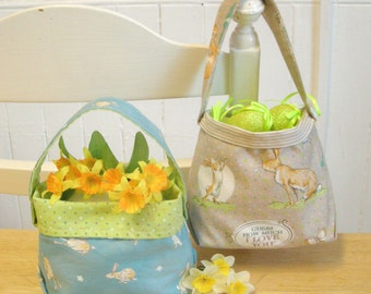 A PDF Pattern for an Easter Egg Bucket Bag - Digital Sewing Pattern