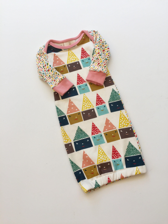 Baby gift, Newborn baby gown, organic infant gown, sleep sack, Baby ...
