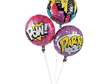 My Girl Superhero Party Balloons /Superhero girls theme / superhero girl party
