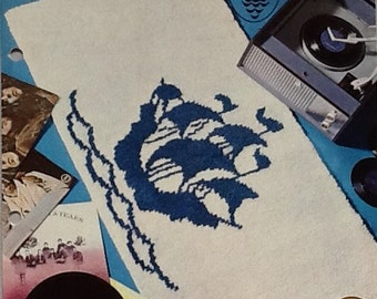 Vintage Rug-making Pattern for Blue Peter Rugs Patons 6200