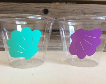 Sea Shell Party Cups - Mermaid Party, Birthday Party, First Birthday, Party Favors, Under the Sea