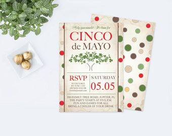 Editable Cinco De Mayo Invite, Fiesta Birthday Party Invitation, Instant  Download, Mexican Fiesta  Family Reunion Invitation Template